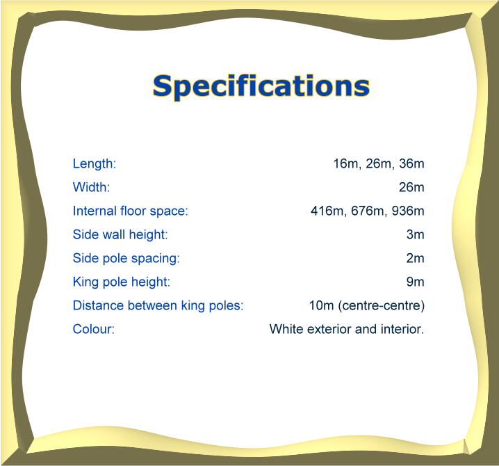 Majestic Foyer Specifications