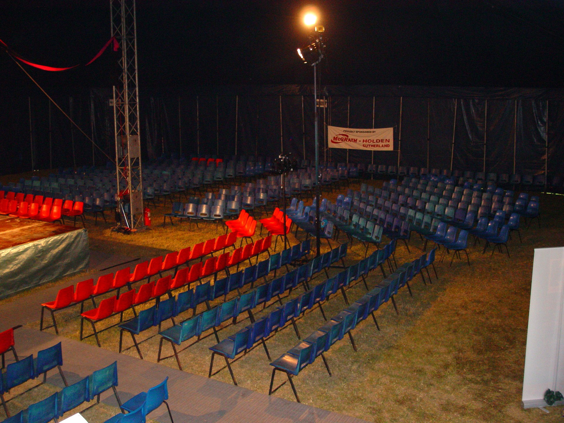 Red and Blue Chairs